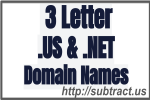 Premium 3 Letter .us and .net domain names