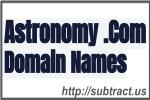 Astronomy .com Domain Names