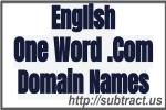 English Language one word domain names
