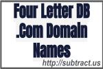 Four lettter DB .com Domain Names