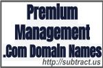 Premium Management .Com Domain Names